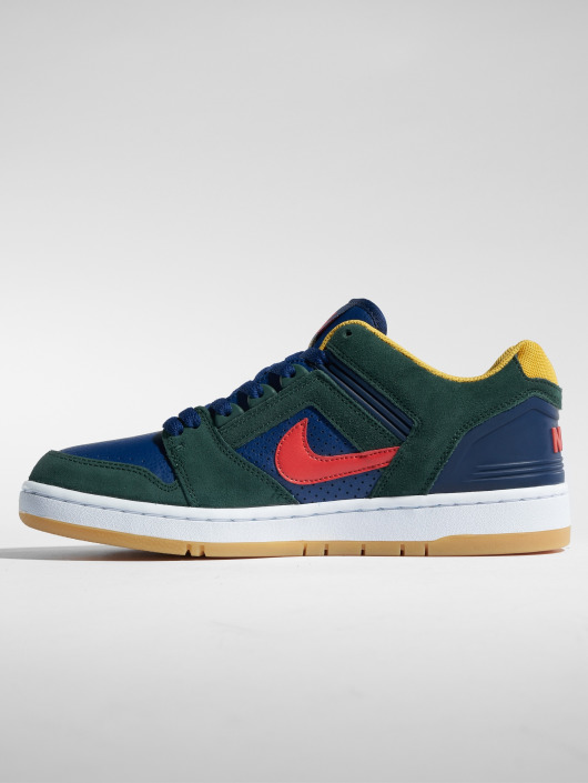 Nike SB Air Force II Low Sneakers Midnight GreenHabanero RedBlue Void