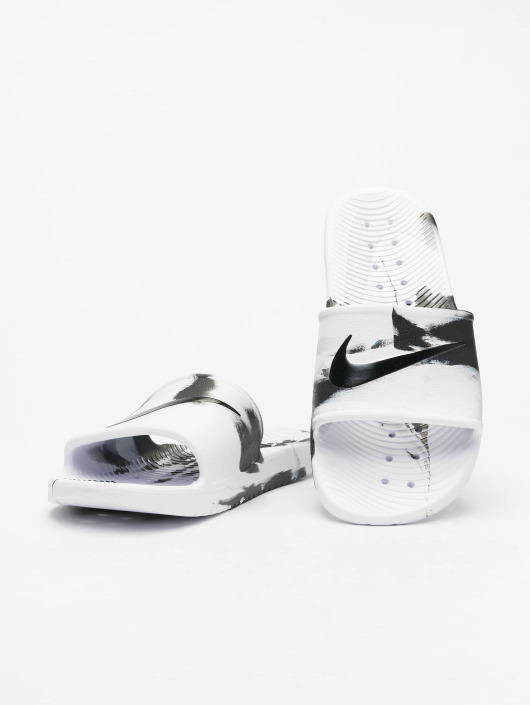 Nike Kawa Shower Marble Sandals WhiteBlackWhite