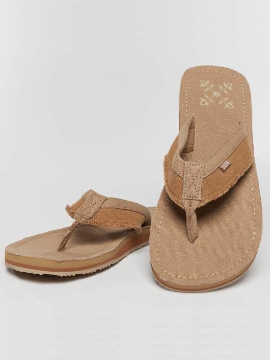 Oxbow Sandals Valpero Mix-Fabric Raw beige