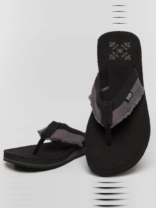 Oxbow Sandals Valpero Mix-Fabric Raw black