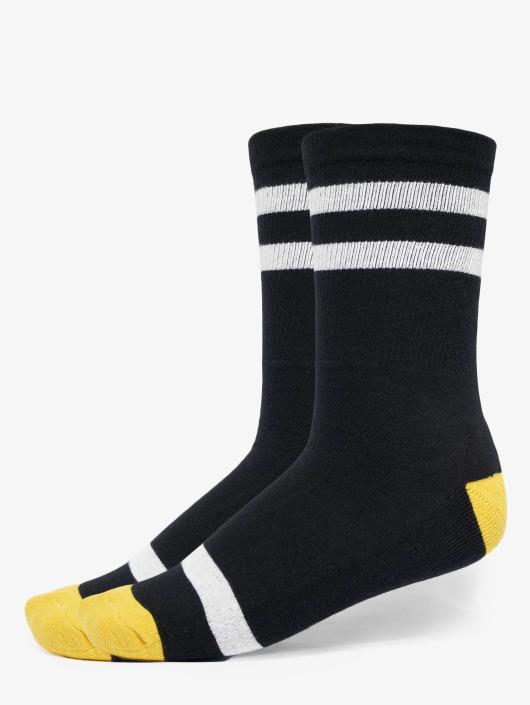 Urban Classics Sokker Multicolor 2-Pack svart
