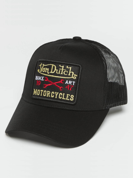 Von Dutch Trucker Caps Bike Art czarny