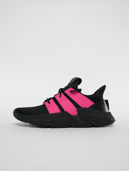 Noir Adidas Originals Prophere Baskets Noir Et Rose Femme