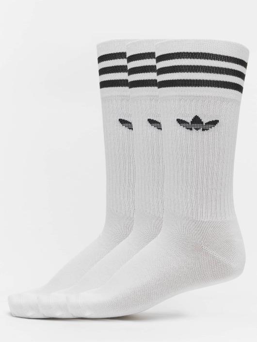 prix compétitif 9d12d 53a2c adidas originals Solid Crew Socks White