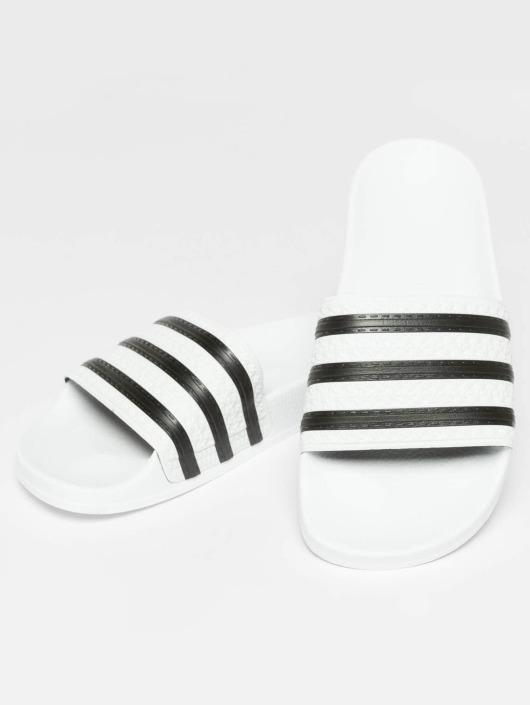 adidas Originals Slipper/Sandaal Stripy wit