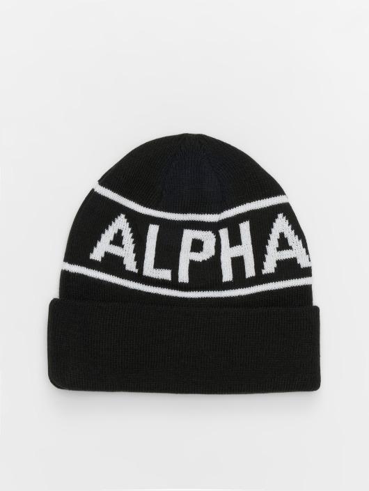 Alpha Industries Beanie Block schwarz