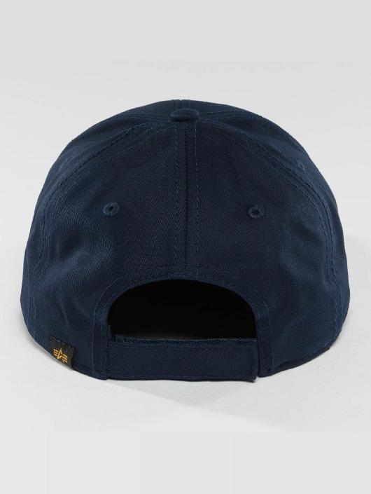 Alpha Industries snapback cap Velcro blauw