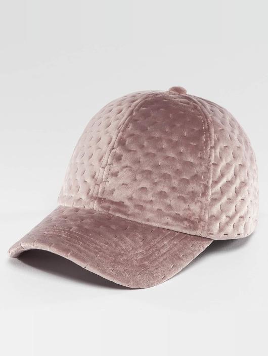 Bangastic Snapback Caps Velvet rózowy