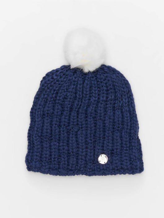 Bench Winter Hat Turn Up Bobble blue