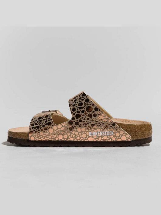 Birkenstock Badesko/sandaler Arizona BF Metallic Stones brun
