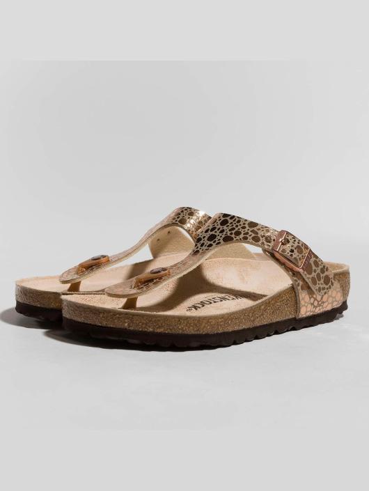 Birkenstock Sandaalit Gizeh BF Metallic Stones ruskea