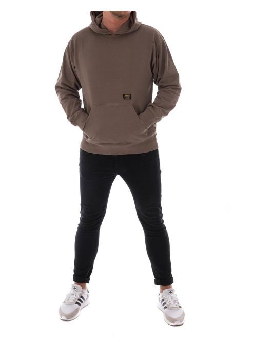 Carhartt WIP Bluzy z kapturem Hooded brazowy