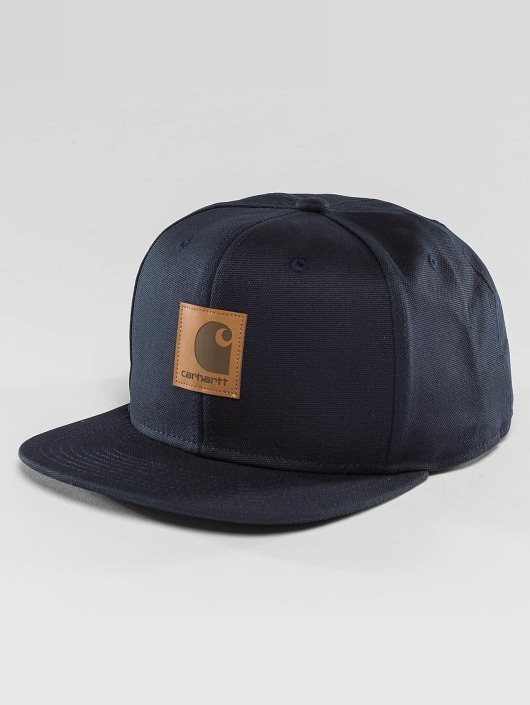 Carhartt WIP Snapback Caps Logo Canvas blå