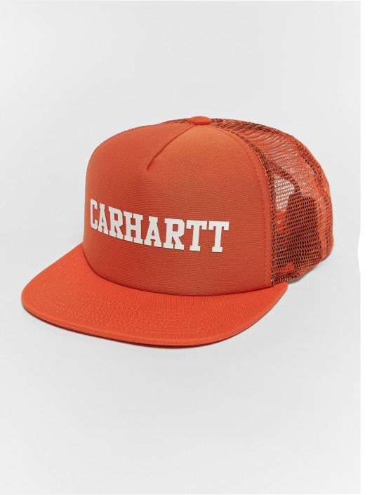 aa8d141dce995 Carhartt WIP Trucker Cap College in orange 503641