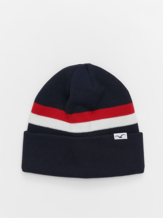 Cleptomanicx Beanie striped blau