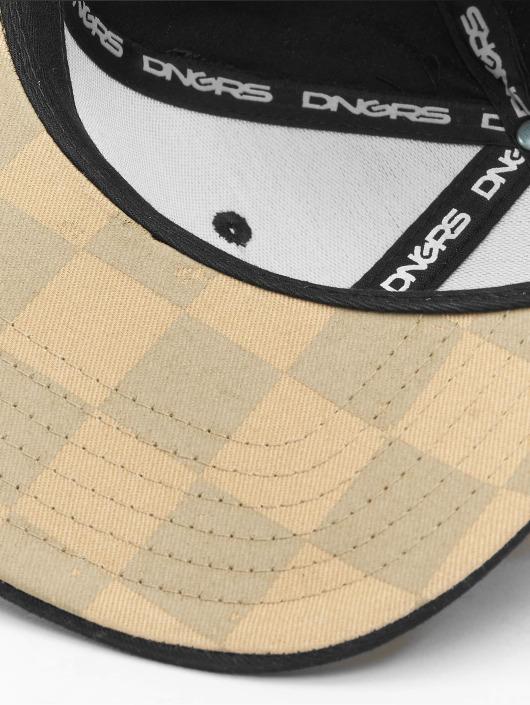 Dangerous DNGRS Snapback Caps Plaid brazowy