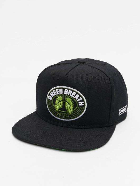 Dangerous DNGRS Snapback Caps Green Breath czarny