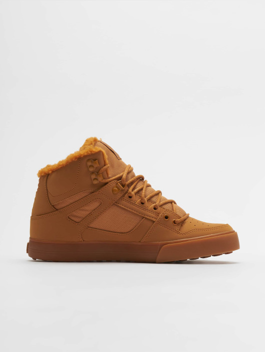 DC Sneaker Pure High Top Wc Wnt braun