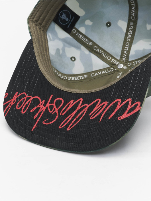 De Ferro Snapback Caps Fire kamuflasje