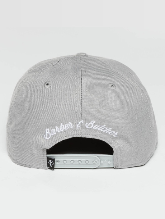 Distorted People Casquette Snapback & Strapback Barber & Butcher gris
