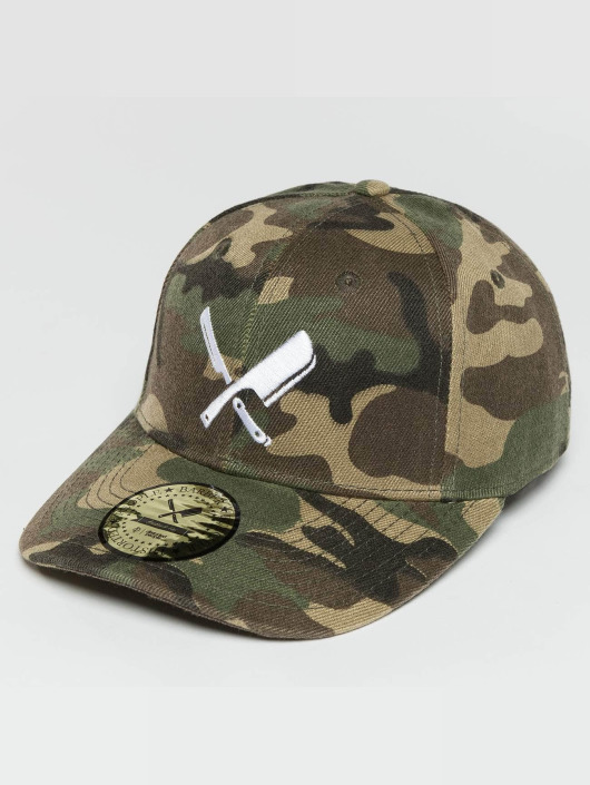 Distorted People Snapback Cap Blades mimetico