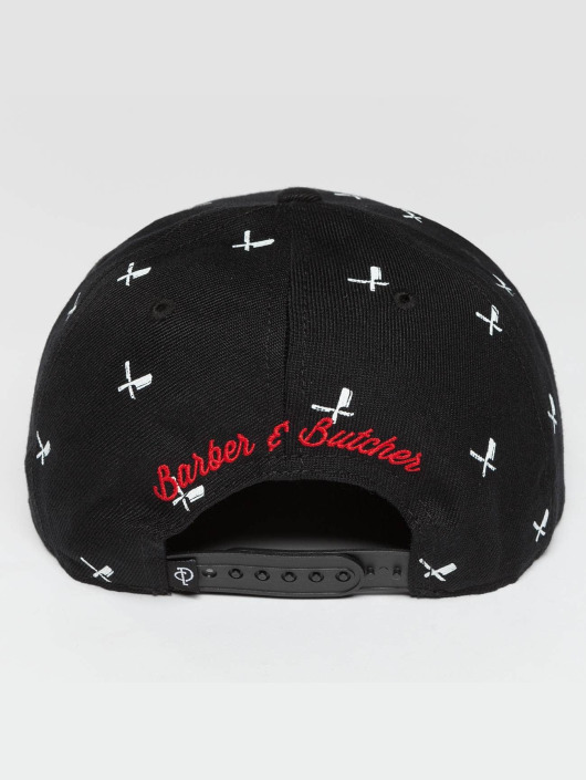 Distorted People Snapback Cap All Over nero