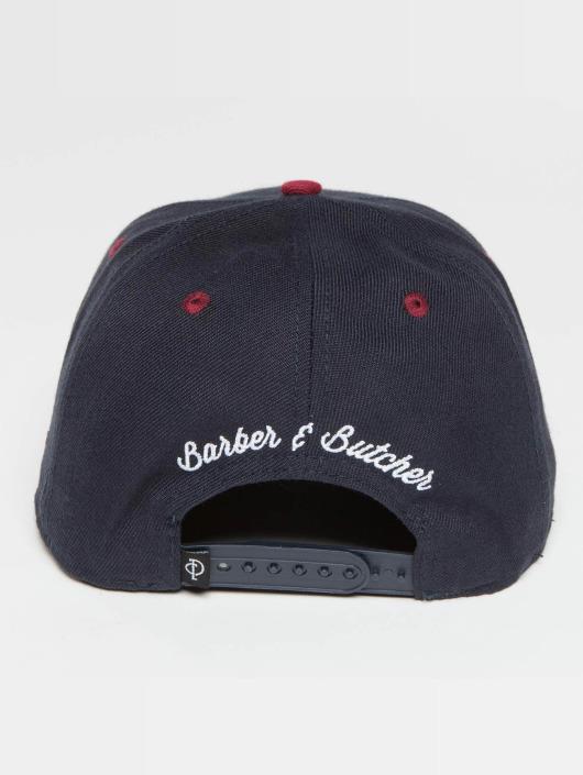 Distorted People Snapback Caps Barber & Butcher niebieski