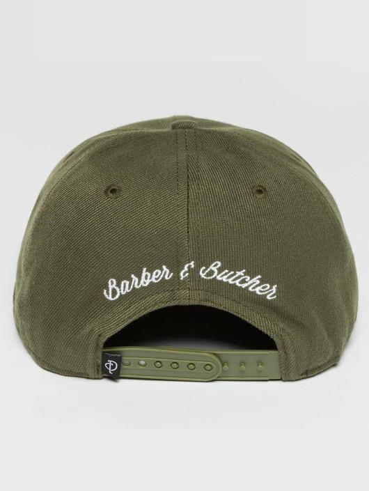 Distorted People Snapback Caps Barber & Butcher oliwkowy