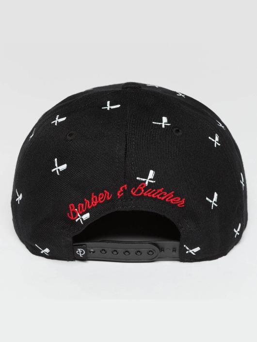 Distorted People Snapback Caps All Over svart