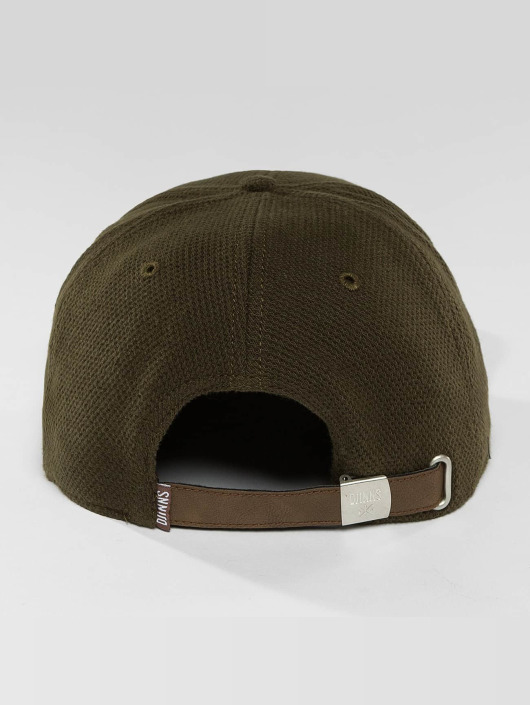 Djinns Casquette Snapback & Strapback 6 Panel Piki Leather brun