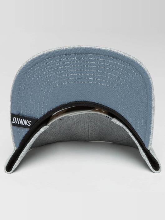 Djinns Casquette Snapback & Strapback 6 Panel Jersey Pin gris