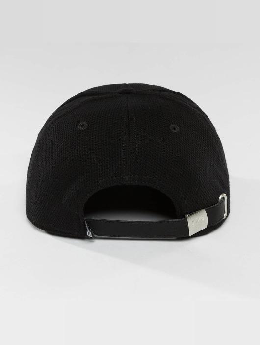 Djinns Casquette Snapback & Strapback 6 Panel Piki Leather noir