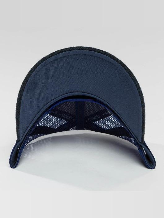 Djinns Casquette Trucker mesh HFT Felt Rubber bleu