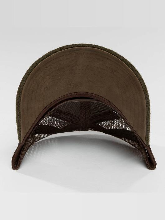 Djinns Casquette Trucker mesh HFT Piki Leather brun