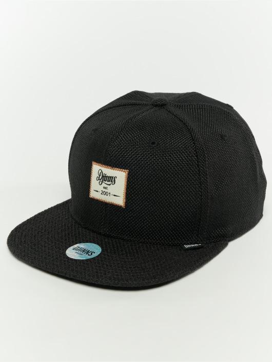 Djinns Snapback Cap 6p Jute Mix black