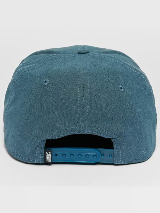Djinns Snapback Cap Melange Twill blu