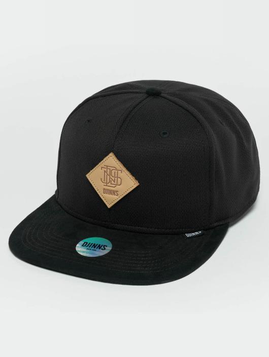 Djinns Snapback Cap Dry Knt nero