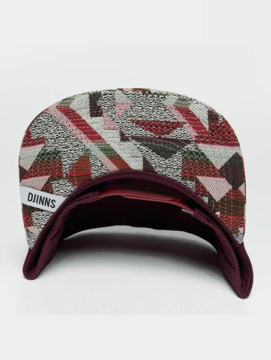 Djinns Snapback Cap Rubber Aztek rosso