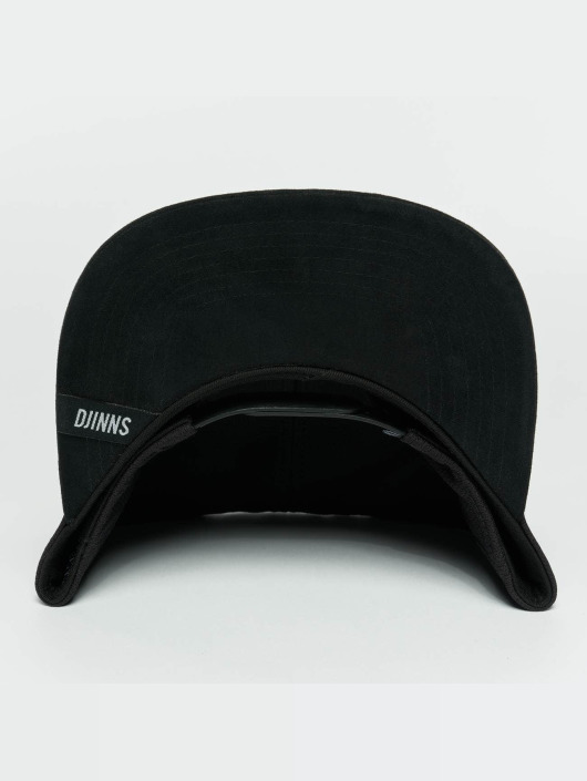 Djinns Snapback Caps Dry Knt musta