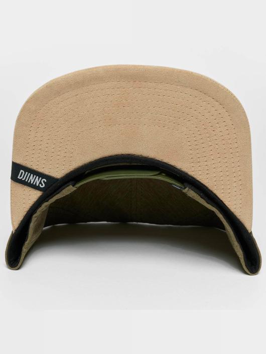Djinns Snapback Caps Melange Twill oliwkowy