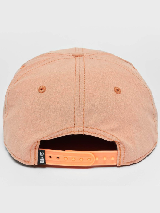 Djinns Snapback Caps Melange Twill růžový