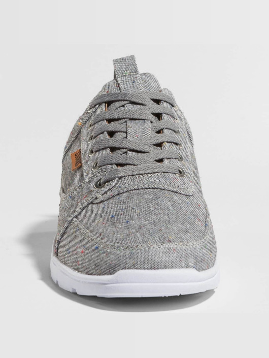 Djinns Sneakers For Low Spotted Linen gray