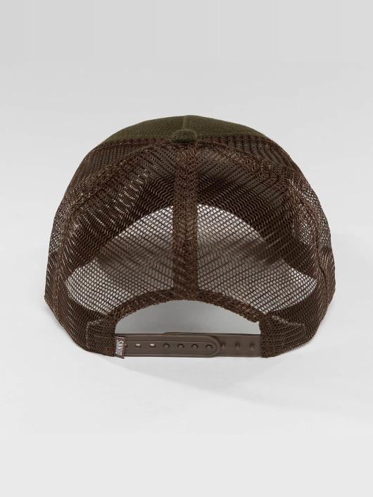 Djinns Verkkolippikset HFT Piki Leather ruskea