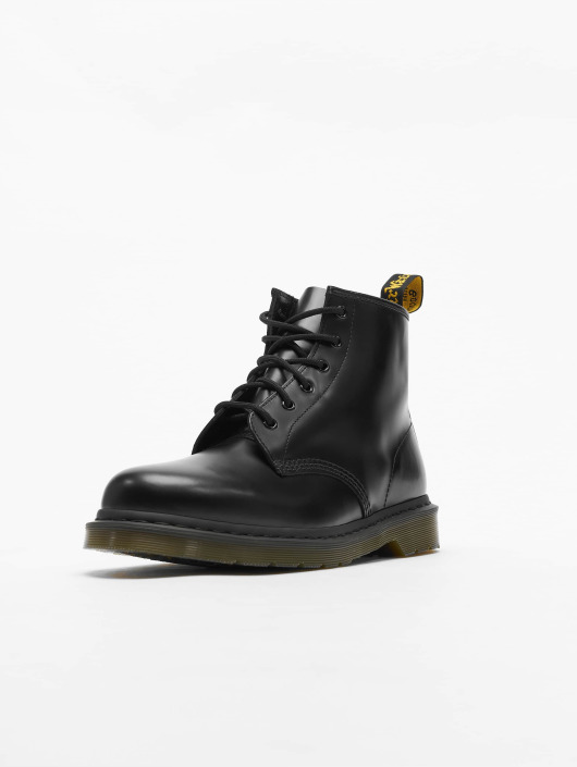 Dr. Martens 101 PW 6 Eye Smooth Leather Police Boots Black