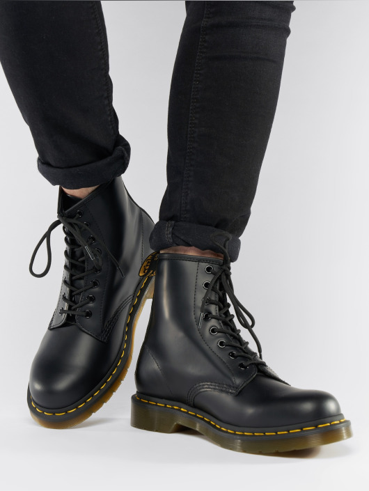 Dr. Martens   1460 DMC 8-Eye Smooth noir Chaussures montantes 497750 f3dfddd1166a