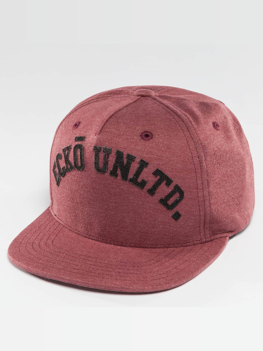 Ecko Unltd. Snapback Caps Melange College czerwony