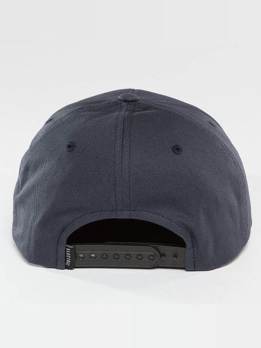 Electric Snapback Caps Rubber Stamp blå