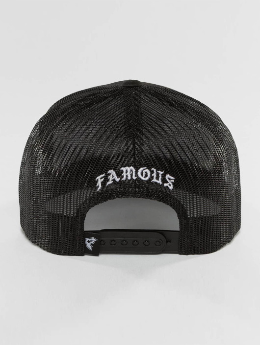 Famous Stars and Straps Trucker Caps Live Fast Die Fun czarny