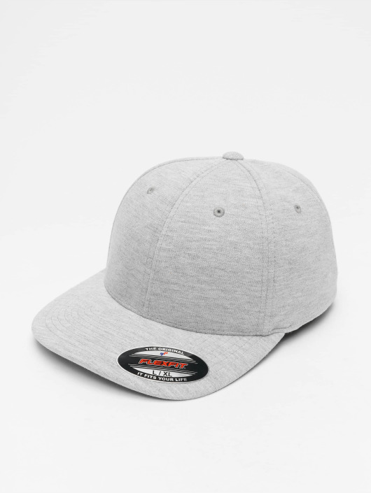 Casquette Flex Double Gris Jersey Fitted 128663 Flexfit IWE9YbeDH2
