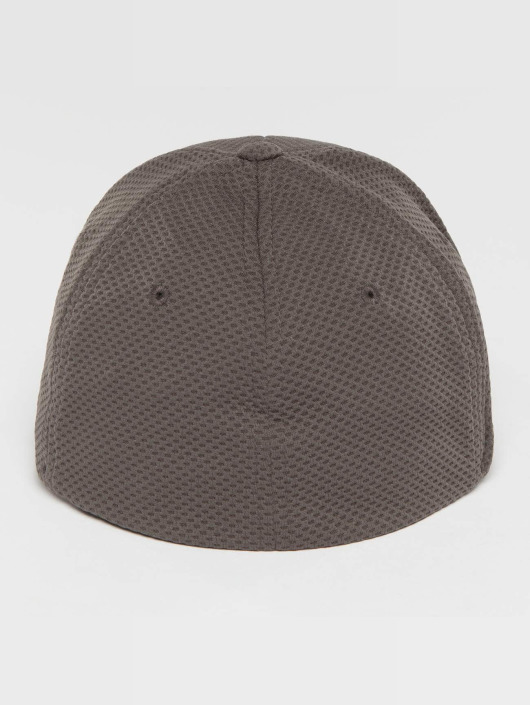 Flexfit Casquette Flex Fitted 3D Hexagon gris